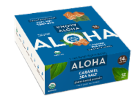 Aloha Organic Caramel Sea Salt Plant-Based Protein Bars 12 Count