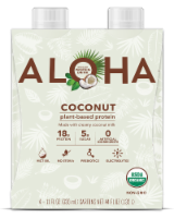 Aloha Organic Coconut Plant-Based Protein Drinks