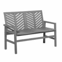 Outdoor Chevron Love Seat - Grey Wash