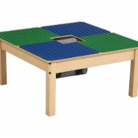 Time-2-Play TP3131PGNA1217-BG 12-17 in. Duplo Compatible Table with Adjustable Legs, Blue & G