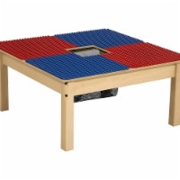 Time-2-Play TP3131PGN20-BR 20 in. Duplo Compatible Table with Legs, Blue & Red - Square