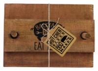 Open Road Brands Butcher Baker BBQ Maker Eat Local Napkin Holder Wood 1 pk - Case Of: 4; - Case of: 4