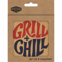 Open Road Brands Grill + Chill Coasters Chip Board 8 pk - Case Of: 4; - Case of: 4