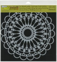 Crafter's Workshop Template 12 X12 -Scalloped Mandala - 1