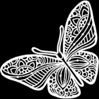 Crafter's Workshop Template 12 X12 -Joyous Butterfly - 1