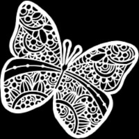 Crafter's Workshop Template 12 X12 -Sunny Butterfly - 1