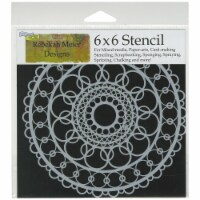 Crafter's Workshop Template 6 X6 -Ring Doily - 1