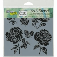 Crafter's Workshop Template 6 X6 -Cabbage Roses - 1