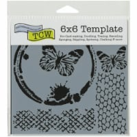 Crafter's Workshop Template 6 X6 -Butterfly Collage - 1