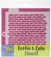 Crafter's Workshop Cookie & Cake Stencils 5.5 X5.5 -Bricks - 1
