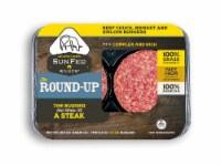 Sunfed Ranch The Round-Up 100% Grass Fed Ground Beef Chuck Brisket & Sirloin Blend Burgers