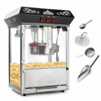 Vintage Popcorn Machine Maker with Large 8-Ounce Kettle - Black - 1