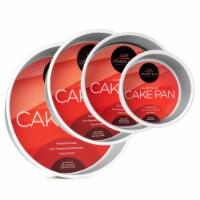 4pc Round Cake Pan Set 6 , 8 , 10 , 12  x 3  Deep - Last Confection - 1