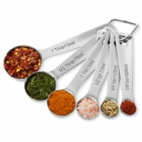 6-Pack, Stainless Steel Measuring Spoons by Last Confection