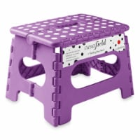 9  Folding Step Stool with Handle in Purple by Casafield - 1