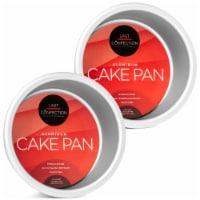 2pc Round Cake Pan Set, 4  x 2  Deep Aluminum Pans - Last Confection - 1