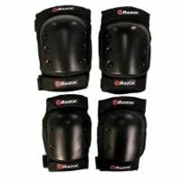 Razor Deluxe Child Multi-Sport Elbow & Knee Pad Safety Pro Set - Black   96784 - 1 Unit
