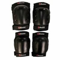 Razor Deluxe Youth Multi-Sport Elbow & Knee Pad Safety Pro Set, Black   96785 - 1 Unit
