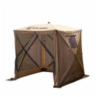 CLAM Quick-Set Traveler Portable Camping Outdoor Gazebo Canopy and 3 Wind Panels