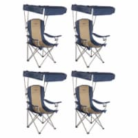 Kamp-Rite Outdoor Tailgating Camping Shade Canopy Folding Lawn Chair (4 Pack) - 1 Unit