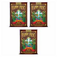FoxFarm FX14047 Happy Frog pH Adjusted Garden Potting Soil Bag, 2 Cu Ft (3 Pack) - 1 Piece
