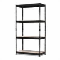 Baxton Studio Cody 3 Shelf Metal Multipurpose Storage Rack in Black - 1