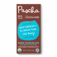 Pascha Organic Vegan Dark Chocolate 55% Cacao & Cocoa Nibs