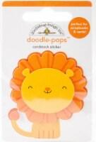 Doodlebug Doodle-Pops 3D Stickers -At The Zoo Leo Lion - 1