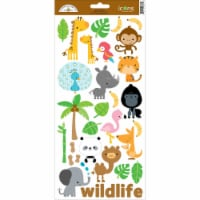 Doodlebug Cardstock Stickers 6 X13 -At The Zoo #1 - 1
