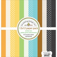 Doodlebug Petite Prints Double-Sided Cardstock 12 X12  12/Pk-At The Zoo, 12 Designs/1 Each - 1