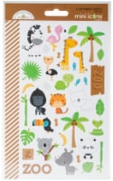 Doodlebug Mini Cardstock Stickers 2/Pkg-At The Zoo - 1