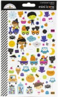 Dooblebug Mini Cardstock Stickers 2/Pkg-Ghost Town Icons - 1