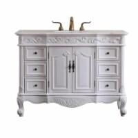 Elegant Decor VF38848AW 48 in. Oakland Single Bathroom Vanity Set - Antique White - 1