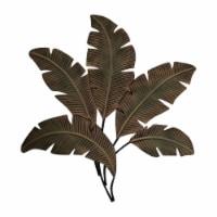 Benzara Metal Hanging Palm Leaf