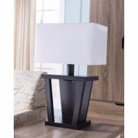 Saltoro Sherpi Contemporary Style Sturdy Table Lamp, Dark Brown - 1 unit