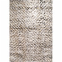 Dynamic Rugs AX9125811901 7 ft. 10 in. x 10 ft. 10 in. Aura 5811 Area Rug, 901 Grey & Ivory