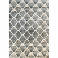 Dynamic Rugs AX285813910 2 ft. 2 in. x 7 ft. 7 in. Aura 5813 Area Rug, 910 Grey & Ivory