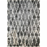 Dynamic Rugs AX285814910 2 ft. 2 in. x 7 ft. 7 in. Aura 5814 Area Rug, 910 Grey & Ivory
