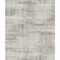 Dynamic Rugs WG7107962800 6 ft. 7 in. x 9 ft. 6 in. 7962 Wingo Area Rug, 800 Cream & Taupe