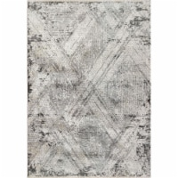 Dynamic Rugs ZS7106683999 6 ft. 7 in. x 9 ft. 6 in. 6683 Sunrise Area Rug, 999 Grey, Charcoal