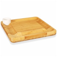 Nutrichef PKCZBD10 Bamboo Cheese Cutting Board