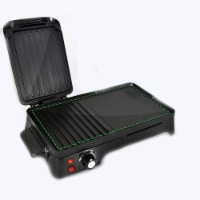 NutriChef Electric Griddle Crepe Hot Plate Cooktop with Press Grill for Paninis - 1 Unit