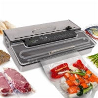 NutriChef PKVS50STS Kitchen Pro Food Electric Vacuum Sealer Preserver System - 1 Unit