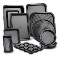 NutriChef Deluxe Nonstick Carbon Steel Stackable 10 Piece Kitchen Bakeware Set - 1 Unit