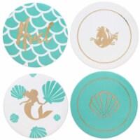 Disney The Little Mermaid 4 Piece Ceramic Coaster Set - Set of 4