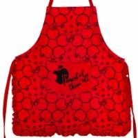 Disney Snow White Apple Print Red Ruffled Adult Kitchen Apron