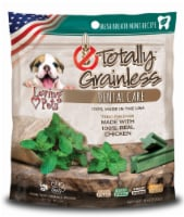 Loving Pets Totally Grainless Dental Care Fresh Breath Small to Large Chicken Dog Treats