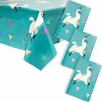 Sparkle and Bash Llama Party Plastic Table Cloth Cover (3 Pack) - PACK