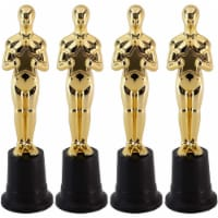 Blue Panda Gold 9 Inch Award Party Ceremony Trophy (4 Pack) - PACK