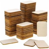 Wooden Cutouts for Crafts with Rounded Corners, Wood Rectangle (2x1.3 In, 120 Pack) - PACK